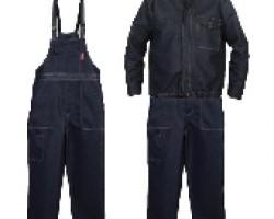 EC24/blug - Costum salopeta cu pieptar denim 67%PE + 33%BBC