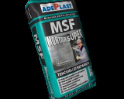 MSF Mortar super-plastic pentru tencuieli si reparatii