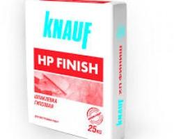 Glet de ipsos Knauf Finish Q4 M pt. aplicare mecanizata