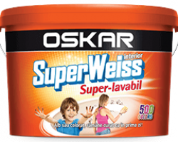 Vopsea lavabila OSKAR Superweiss Super-lavabil 2,5L