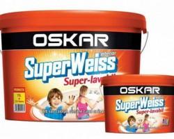 Vopsea lavabila OSKAR Superweiss Super-lavabil 15L