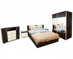 Dormitor Laguna cu pat 160x200cm cu 2 sertare